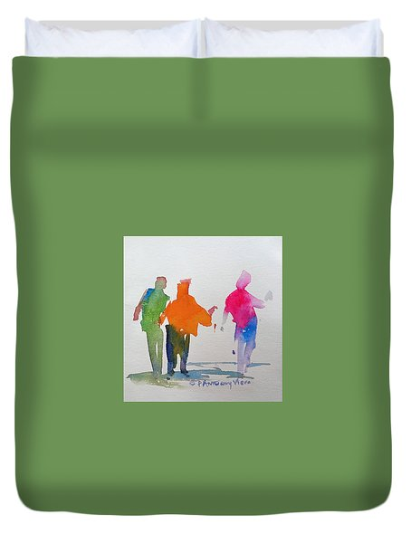 Figures In Motion  Duvet Cover