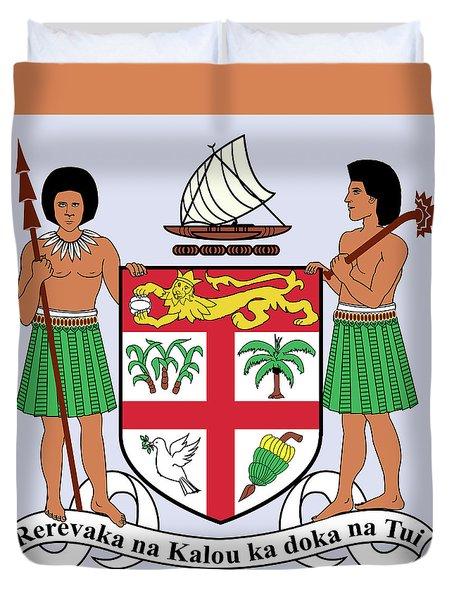Fiji Coat Of Arms Duvet Cover by Movie Poster Prints