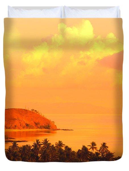 Fiji Mana Island Duvet Cover by Dave Fleetham - Printscapes