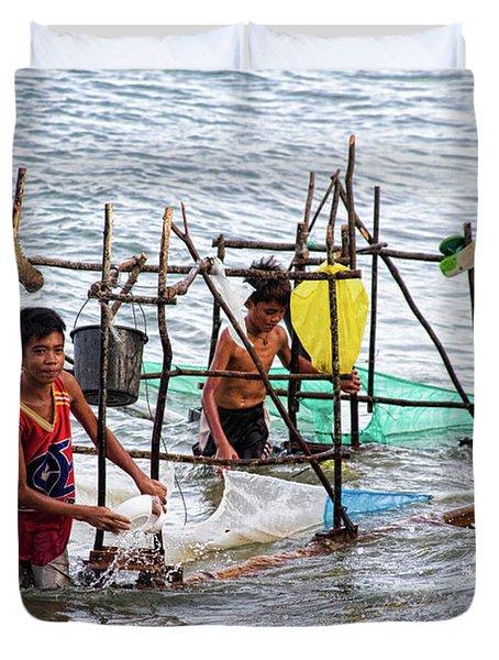 Filipino Fishing Duvet Cover by James BO  Insogna