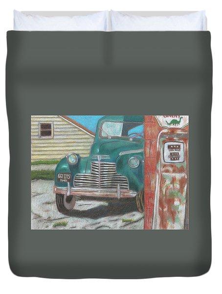 Fill 'er Up Duvet Cover by Arlene Crafton