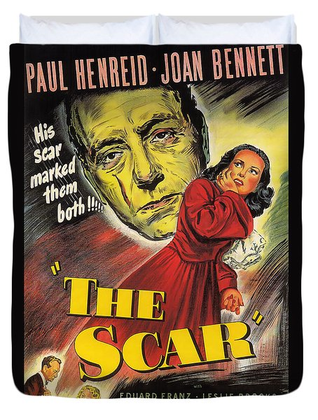 Film Noir Poster  The Scar Duvet Cover