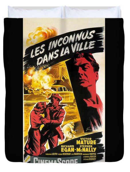Film Noir Poster   Violent Saturday Duvet Cover