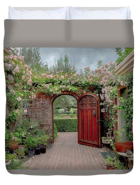 Filoli Garden Entrance Duvet Cover