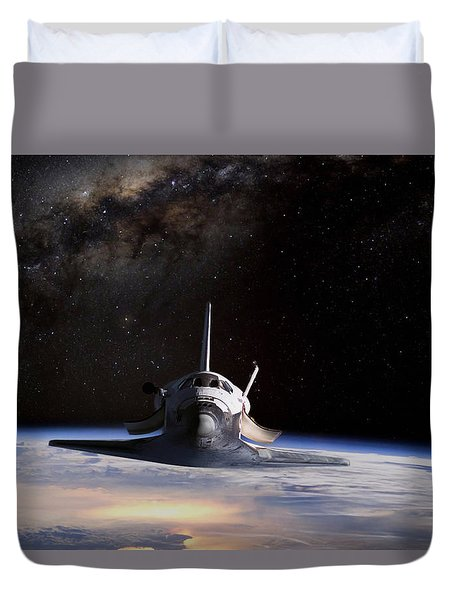Final Frontier Duvet Cover by Peter Chilelli