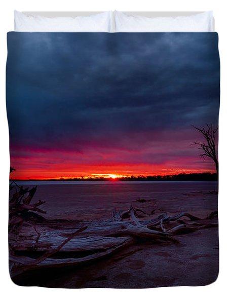 Final Sunset Duvet Cover