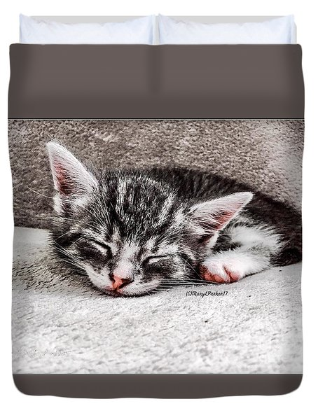 Finally Asleep  Copyright Mary Lee Parker 17  Duvet Cover