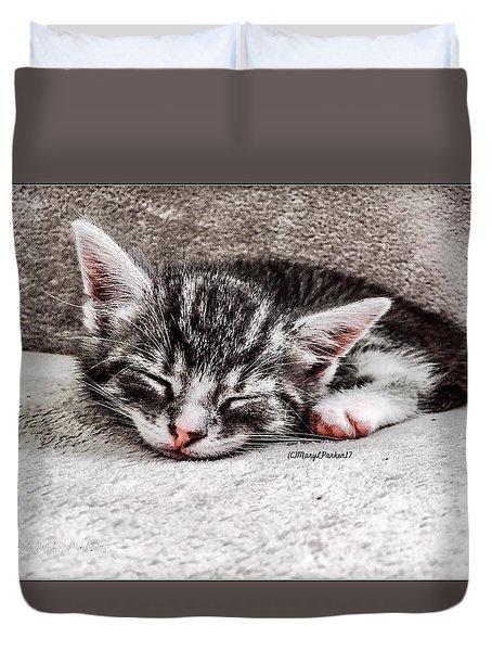 Finally Asleep  Copyright Mary Lee Parker 17  Duvet Cover