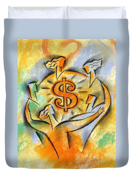 Financial Success Duvet Cover