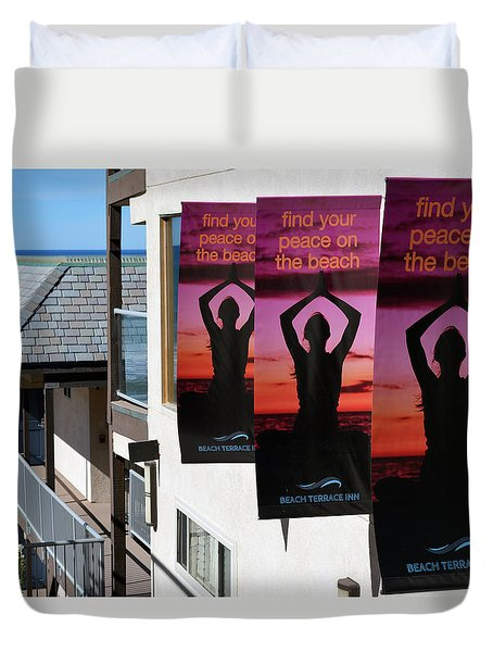 Find Your Peace Duvet Cover by Bill Dutting