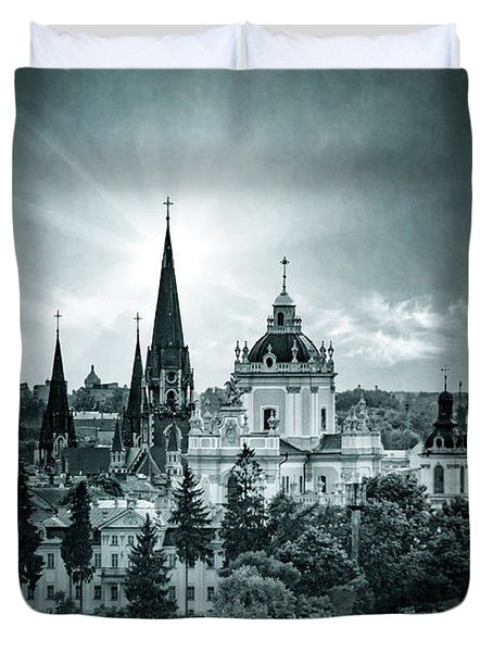 Finding Faith Duvet Cover