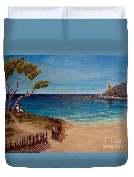 Finding My Special Place In The Summertime  Duvet Cover by Kimberlee Baxter