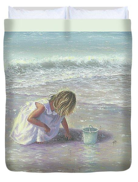 Finding Sea Glass Duvet Cover