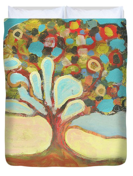 Finding Strength Together Duvet Cover by Jennifer Lommers