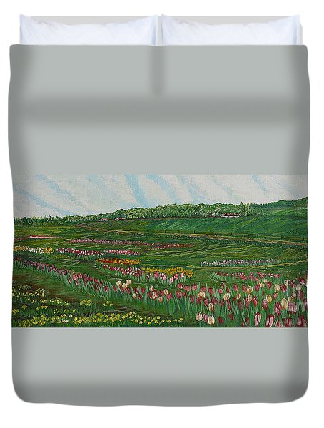 Finding The Way To You - Spring In Emmental Duvet Cover by Felicia Tica