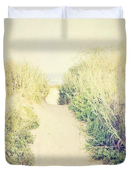 Duvet Cover featuring the photograph Finding Your Way by Trish Mistric