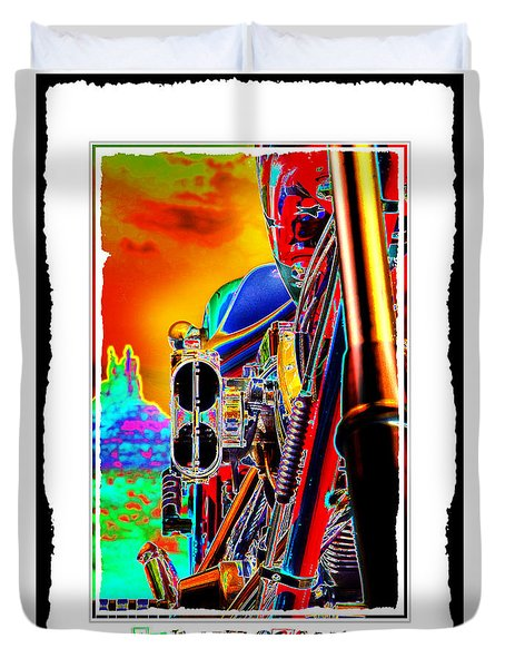 Fine Art Chopper I Duvet Cover by Mike McGlothlen