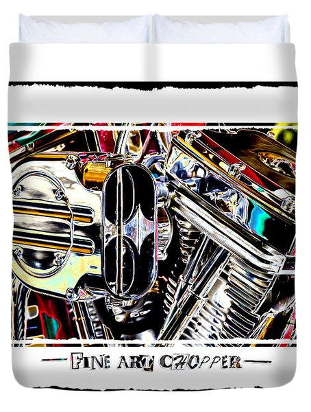 Fine Art Chopper II Duvet Cover by Mike McGlothlen