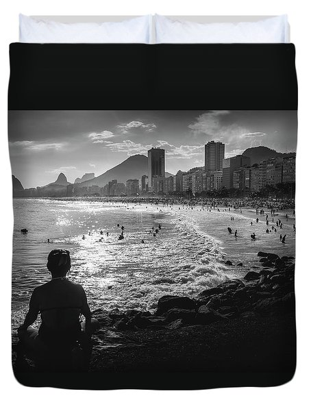 Fine Art Copacabana Rio De Janeiro, Brazil Duvet Cover