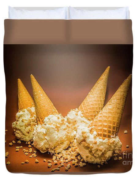 Fine Art Ice Cream Cone Spill Duvet Cover