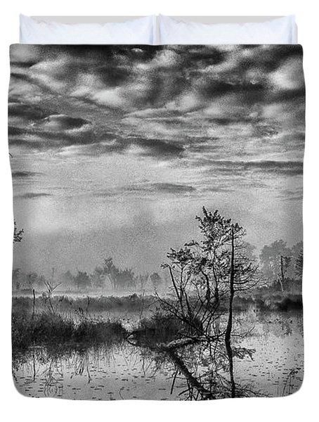 Fine Art Jersey Pines Landscape Duvet Cover