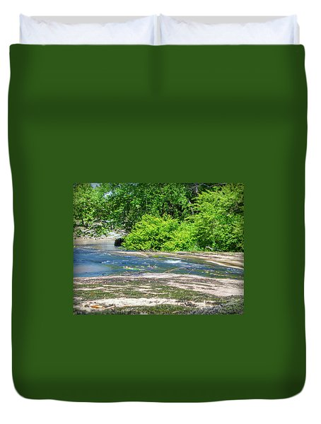 Fine Creek No. 3 Duvet Cover by Laura DAddona
