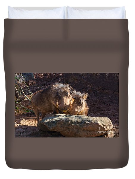 Fine Looking Couple Duvet Cover by Donna Brown