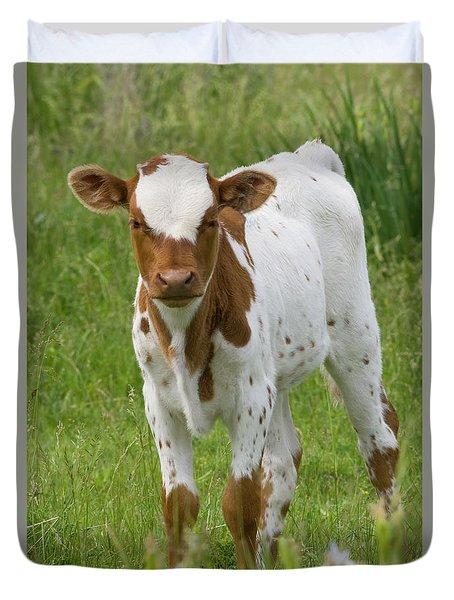 Fine Looking Longhorn Calf Duvet Cover