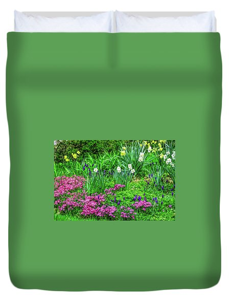 Duvet Cover featuring the photograph Fine Wine Cafe Garden Escape by Aimee L Maher Photography and Art Visit ALMGallerydotcom