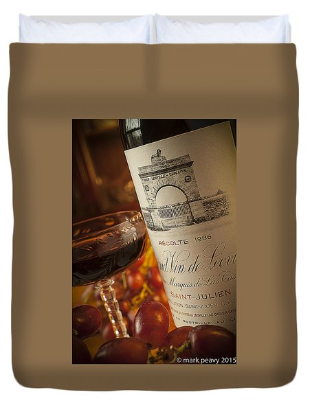 Fine Wine Duvet Cover