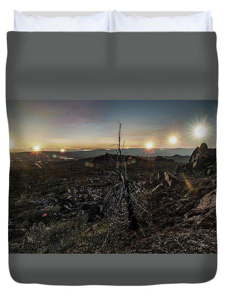 Finger Mountain Solstice Duvet Cover