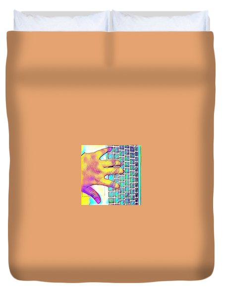 Finger Duvet Cover by Rahmi Mainur