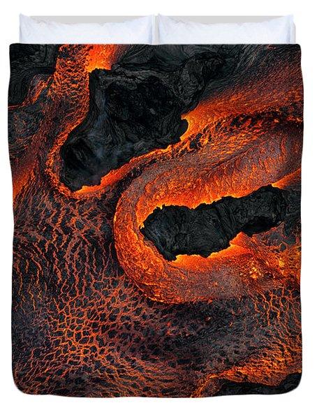 Fingers Of Lava Duvet Cover