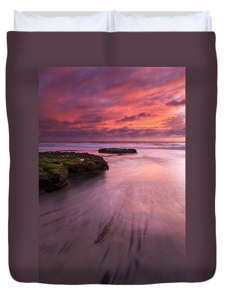 Fingers Of The Tide Duvet Cover by Mike  Dawson