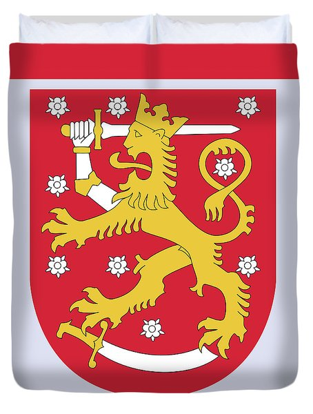Finland Coat Of Arms Duvet Cover by Movie Poster Prints