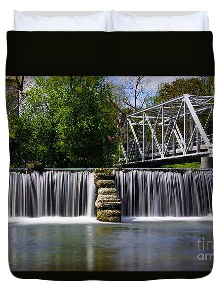 Finley River Dam Duvet Cover by Jennifer White