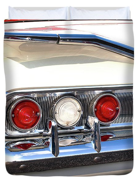 Fins Were In - 1960 Chevrolet Duvet Cover
