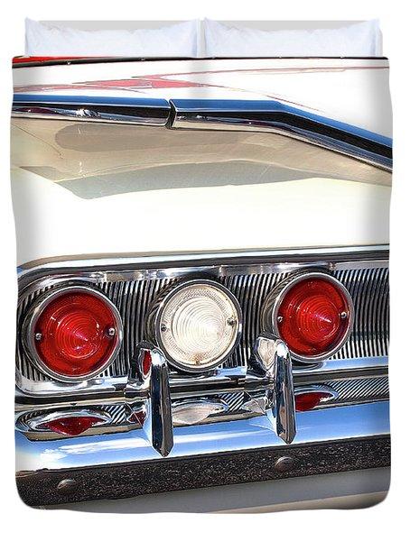 Fins Were In - 1960 Chevrolet Duvet Cover