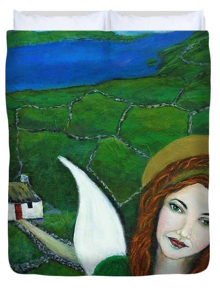Fiona An Irish Earthangel Duvet Cover by The Art With A Heart By Charlotte Phillips