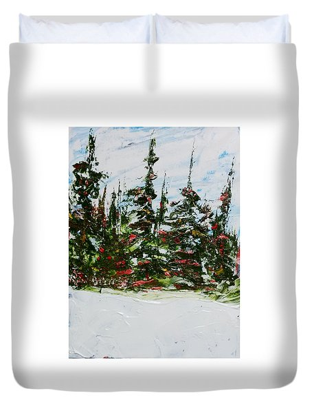 Fir Trees - Spring Thaw Duvet Cover
