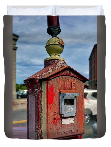 Fire Alarm Box 375 Duvet Cover