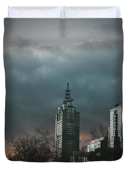 Fire And Ice Duvet Cover by Andrew Paranavitana