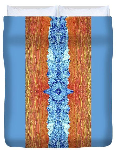 Fire And Ice - Digital 2 Duvet Cover by Otto Rapp