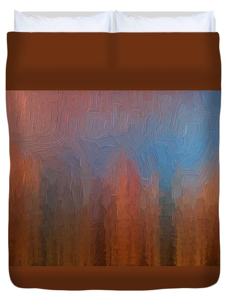 Duvet Cover featuring the photograph Fire And Ice by Ken Smith