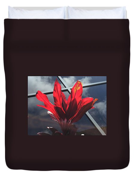 Fire And Ice Duvet Cover by Russell Keating