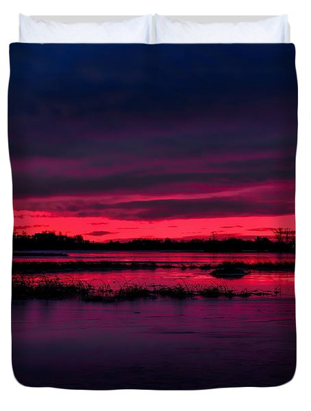 Fire And Ice Sunrise Duvet Cover