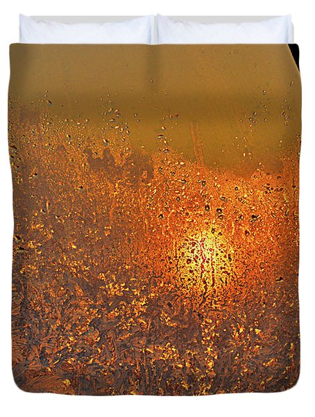 Duvet Cover featuring the photograph Fire And Ice by Susan Capuano