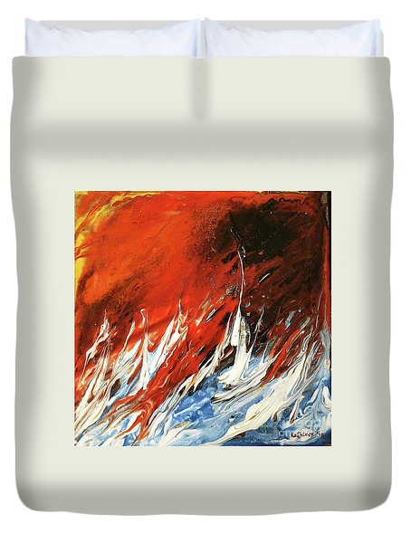 Fire And Lava Duvet Cover