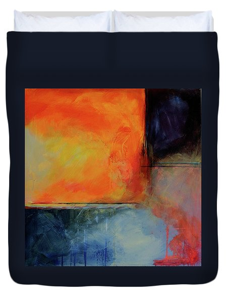 Fire And Rain Duvet Cover