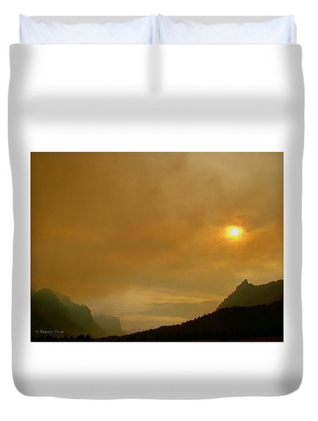 Fire And Sun Duvet Cover
